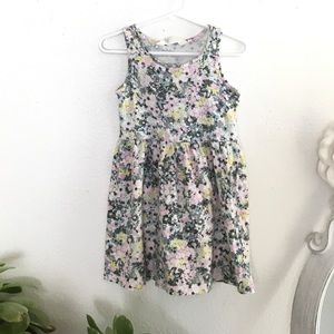 H&M toddler tank dress floral butterfly print